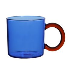 300ML Borosilicate Glass Colored Blue Green Amber Grey Glass Tea and Coffee Cup with Handle Beer Mugs, Coffee Mugs, Smoothie Bar, Glass Coffee Cups, Heat Resistant Glass, Grey Glass, Bubble Tea, Coffee Travel, Colored Glass