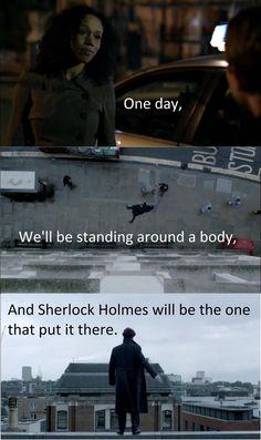 Sad but it's true. Though Sherlock was protecting John Watson. Sherlock Holmes Bbc, Sherlock Fandom, Jim Moriarty, Sherlock Quotes, Sherlock John, Watson Sherlock, Sherlock Season 2, Sherlock Cast, Baker Street