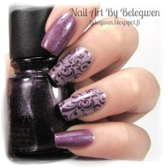 Nail Art by Belegwen: Catherine Arley 673, Essence Ballerina's Charm & China Glaze Rendezvous with You.