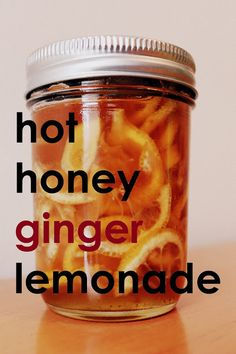 """Make this hot honey-ginger syrup """"tea,"""" and then add whiskey to make a lemonade toddy."""