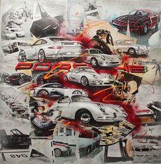 Cool Sports Cars, Sport Cars, Race Cars, Porsche Carrera, Porsche 356, Collage, Bentley Continental Gt, Volvo Trucks, Car Drawings