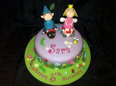 Ben & Holly garden cake - a slice of their little kingdom :). Www.facebook.com/AlyTCakes
