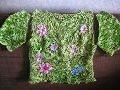 Para aprender hacer las piezas entre en este enlace... Aplicaciones para crochet Ruso o Irlandés con patrones-A-, Aplicacion...