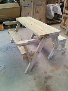 Been making these folding picnic/benches