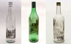 This Artist Selectively Erases Smoked-Filled Bottles. What Remains is Amazing