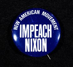 """""""Impeach Nixon"""" Button, 1972 On June 21, 1972—just four days after the Watergate break-in that brought down President Richard Nixon—a """"new type"""" of socialist organization called the New American Movement was founded in Minneapolis. It was among the first activist organizations in the nation to make """"Impeach Nixon"""" a rallying cry. The New American Movement survived as an independent group for about ten years. In 1982 it joined with the Democratic Socialist Organizing Committee to form the…"""