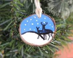 Image result for wood slice christmas ornaments