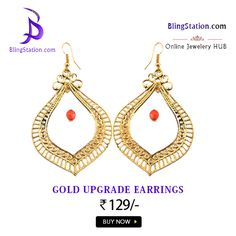 Be the talk of the day with these one of a kind Golden droplets Earrings #BlingStation #FashionJewellery #Earrings #OnlineShopping #Jewellery