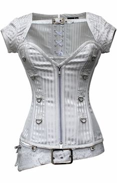 I need this for my Leia Costume! 821 White Brocade Overbust Corset – Special Order