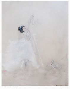 The Spirit Wedding -with rabbit    acrylic on canvas  by Adorn Atelier