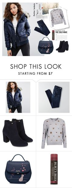 """""""Perfect Puffer Jackets #1"""" by ruzi-78 ❤ liked on Polyvore featuring Abercrombie & Fitch, American Eagle Outfitters, Monsoon, Barbour, Burt's Bees and puffers"""