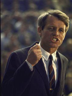 Sen. Robert Kennedy Giving Speech During Campaign Stop