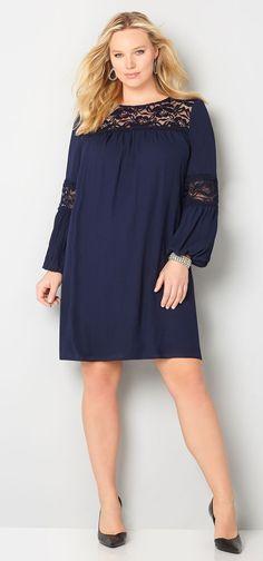 cutethickgirls.com navy blue plus size dress (01) #plussizedresses ...