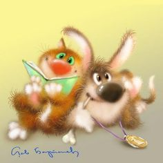 Fluffy postcard from Leo Barteneva