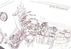 내 방 스케치. 러시아수업 숙제