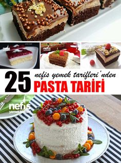 25 Denenmiş Yaş Pasta Tarifi - Nefis Yemek Tarifleri Turkish Sweets, Turkish Cuisine, Turkish Delight, English Food, Confectionery, Turkish Recipes, Cake Decorating, Birthday Cake, Cake Recipes