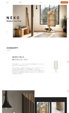 Modern Cat Tree NEKO | Web Design Clip [L] 【ランディングページWebデザインクリップ】 Website Design Inspiration, Best Website Design, Website Design Layout, Web Layout, Layout Design, Minimal Web Design, Clean Web Design, Web Ui Design, Page Design