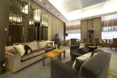 The interior of the Hazelton Hotel was designed by the internationally acclaimed firm of Yabu Pushelberg.