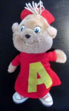Vintage 1983 CBS Toys Alvin The Chipmunk Plush Doll Television Show Cute 3+ #CbsToys
