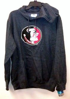 Just $29.99 & Free Shipping!!  NEW/NWT Florida State Seminoles MEDIUM Hoodie Sweatshirt Gray FSU Hand Warmer #MajesticSection101 #FloridaStateSeminoles