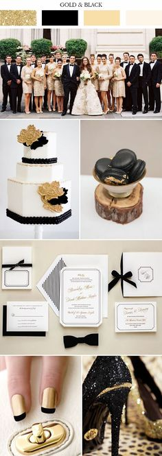 classic gold and black wedding colors 2017