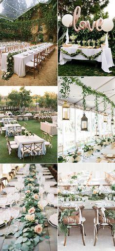 2018 trending garden themed wedding reception ideas