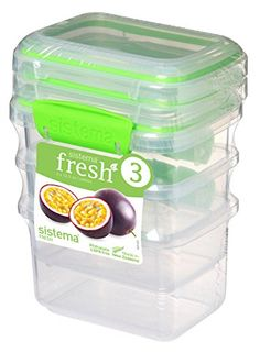 The Sistema Fresh Rectangular Food Container saves you space with it's modular design that allows for easy stacking in your fridge or pantry. The container's easy locking clips ensure the lid is tight so your food is fresh and secure. Plastic Food Containers, Food Storage Containers, Cricut Vinyl, Ice Cube Trays, Dishwasher, Improve Yourself, Lime, Packing, Jar
