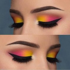 Love or not? Double tip for this eye make-up from - Love or not? Double tip for this eye make-up from The Effective Pictures We Offer You A - Pink Eye Makeup, Makeup Eye Looks, Beautiful Eye Makeup, Colorful Eye Makeup, Eye Makeup Art, Smokey Eye Makeup, Eyeshadow Makeup, Makeup Inspo, Makeup Ideas