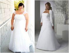 Modelos de vestidos de noiva para gordinhas 2013