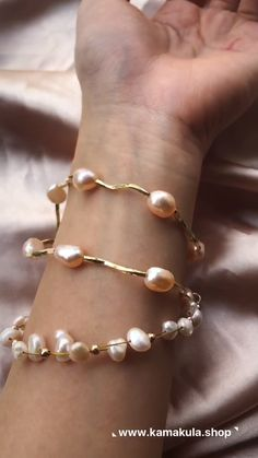 "Le Passé (""the past"" in French) Freshwater Pearl Bracelet is a fusion of modern, delicacy and purity. Freshwater Pearl Bracelet, Pearl Jewelry, Gold Jewelry, Fine Jewelry, Diamond Earrings, Turquoise Jewelry, Jewelry Making, Jewellery, Jewelry Trends"