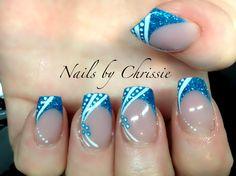 Electric blue and art -! #gelnails #nails #nailart #nailsbychrissie #nsinails