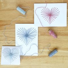 Sew on paper to make beautiful hand-sewn greeting cards. Add the card to a thoughtful gift to add a homemade touch to gift-giving.