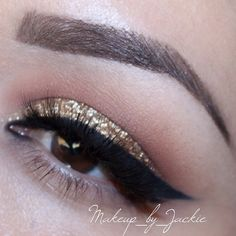 Gold glitter makeup - @makeup_by_jackie