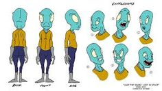 Paige: I chose this Alien character sheet to give inspiration to a fairly plain and simple humanised Alien character, if it came to it. However I don't particularly like the colour schemes here.