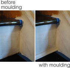 moulding at bottom of each step