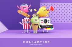 """다음 @Behance 프로젝트 확인: """"CDM Characters"""" https://www.behance.net/gallery/61068169/CDM-Characters"""