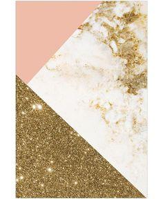 Gold foil marble
