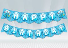 Bubble Guppies Birthday Banner  Blue or Pink by DigiPartyShoppe, $4.00