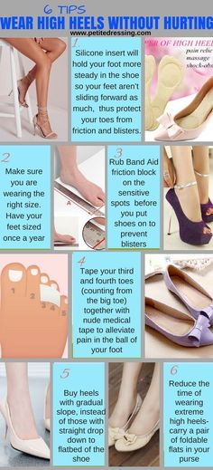 Fashion infographic & data visualisation 7 Tips to Wear High Heels without Hurting Infographic Description Learn the best tips on how to make your high heels more comfortable and wear them longer without pain. Fashion Models, Women's Fashion, Fashion Trends, Fashion Styles, Fashion Guide, Female Fashion, Fasion, Fashion Infographic, Walking In High Heels