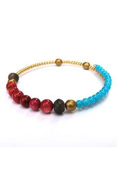 Sarah Arm Candy Beaded Bracelet Memory Wire by PopCultureJunkie, $12.00