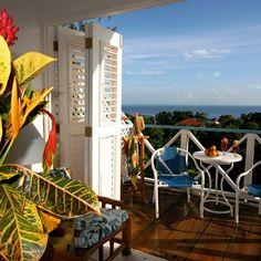 Portland, Jamaica.  Hotel Mockingbird Hill