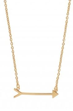 Gold Vermeil Arrow Necklace | On the Mark Necklace | Stella & Dot