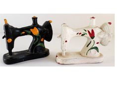 Cast Iron Sewing Machine Salt Pepper Shakers by ClearlyRustic, $17.00