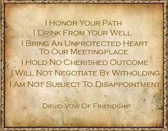 Druid Vow of Friendship