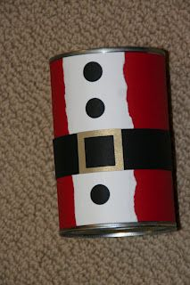 Crafting with cans on pinterest coffee cans tin cans for Decorating tins for christmas