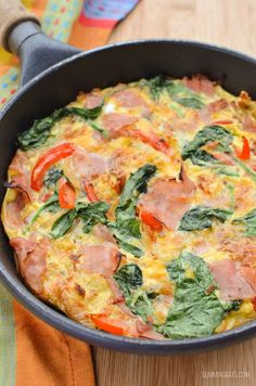 Slimming Eats Ham and Hashbrown Frittata - gluten free, dairy free, paleo, Slimming World and Weight Watchers friendly