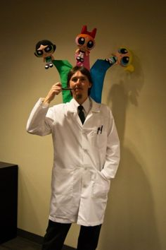 Professor Utonium and the Powerpuff Girls. Well that's just completely awesome.