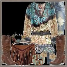 boho chic + cowboy boots - Google Search