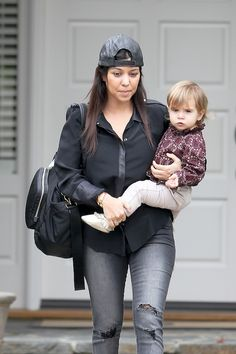 Kourtney Kardashian and Penelope Disick Go to Mommy and Me Class