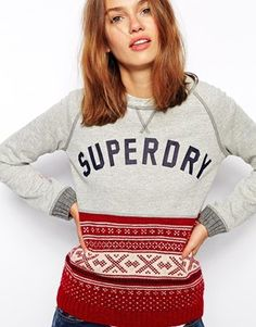 Superdry Knitted And Sweat Jumper
